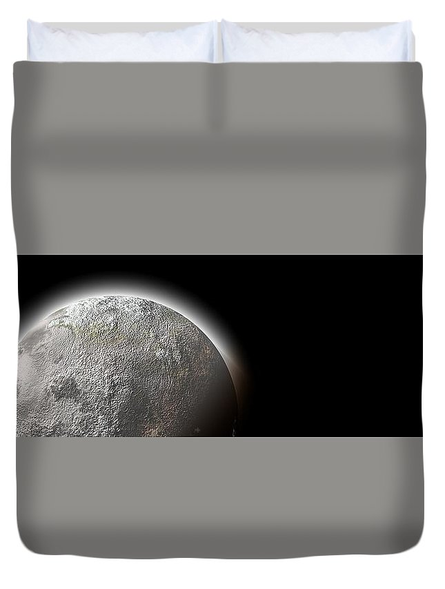 Moon Duvet Cover featuring the photograph Moon by FL collection