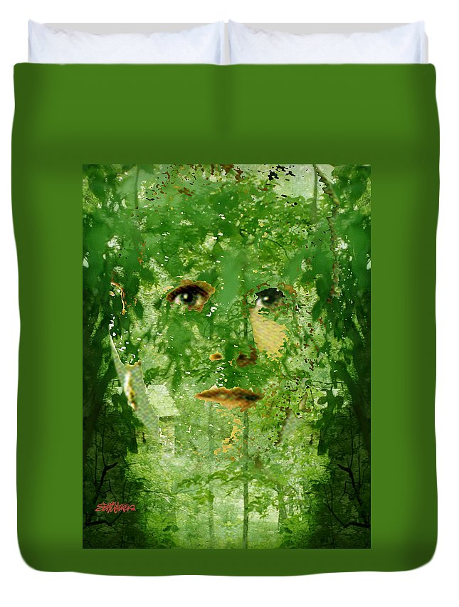 Lady Duvet Cover featuring the digital art Mother Nature by Seth Weaver
