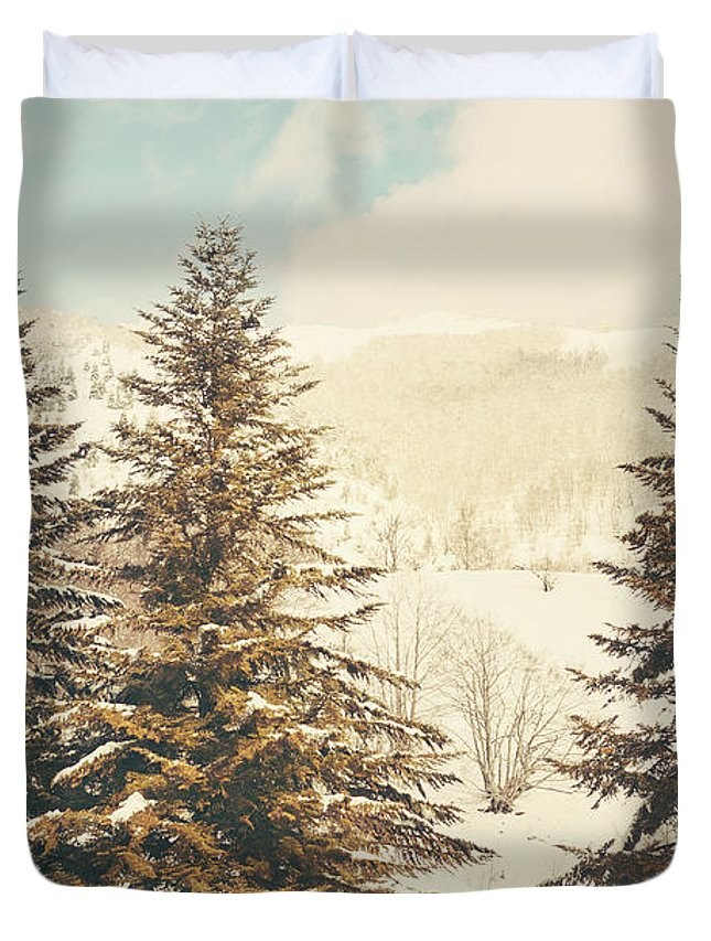 Background Duvet Cover featuring the photograph Mountains In The Background Xi by Salvatore Russolillo