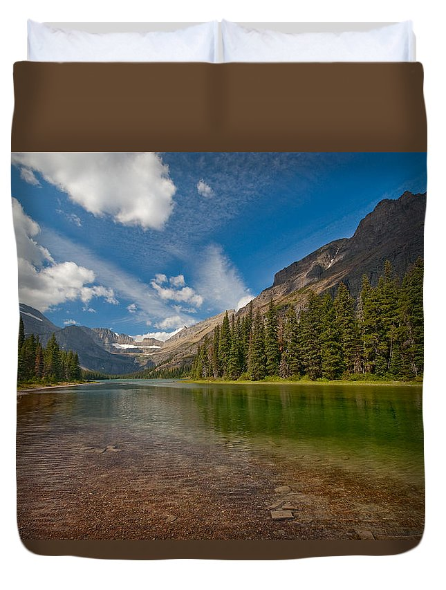 Nature Duvet Cover featuring the photograph Moutain Lake by Sebastian Musial
