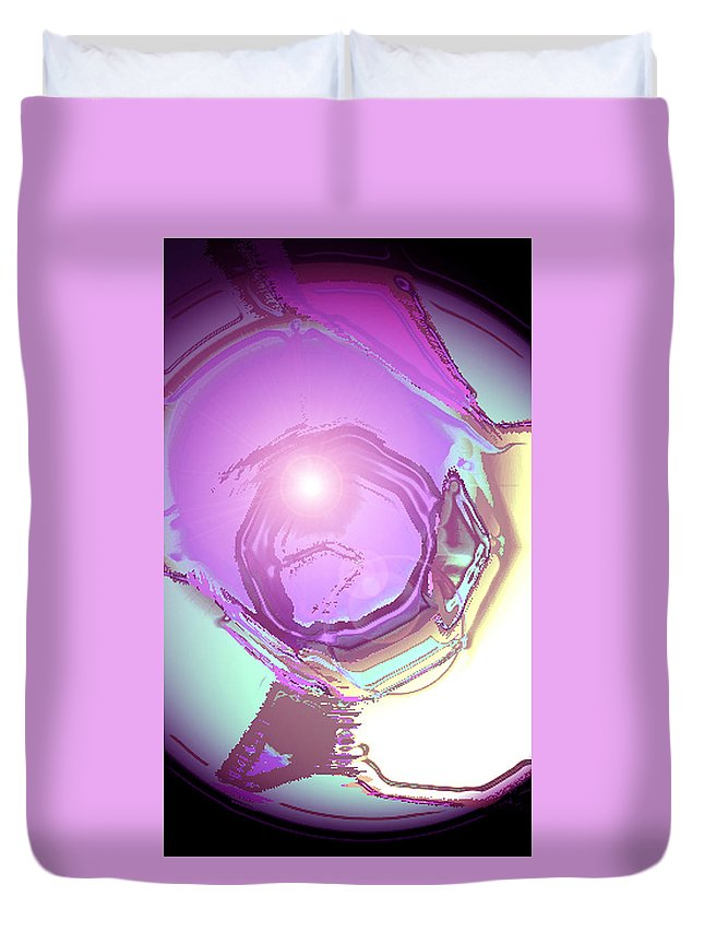 Moveonart! Digital Gallery Duvet Cover featuring the digital art Moveonart Inspiration Intuition Intellect by Jacob Kanduch