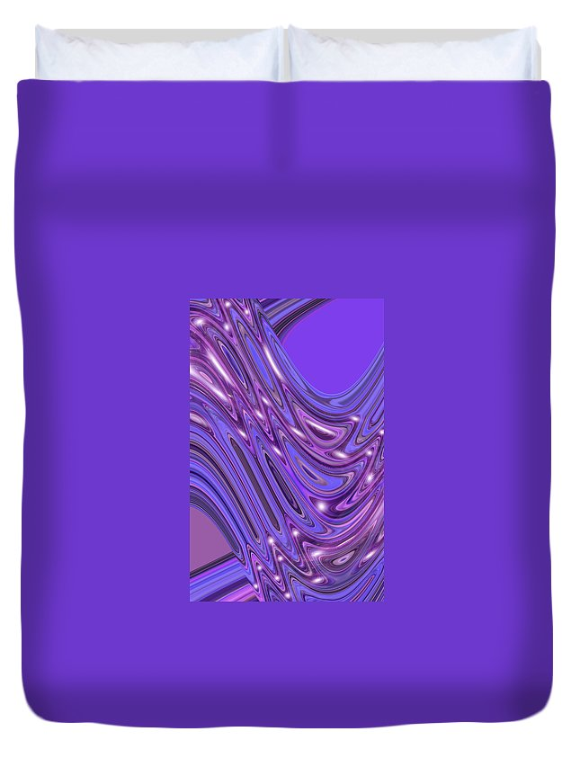Moveonart! Digital Gallery Duvet Cover featuring the digital art Moveonart Waves Of Interpretation by Jacob Kanduch
