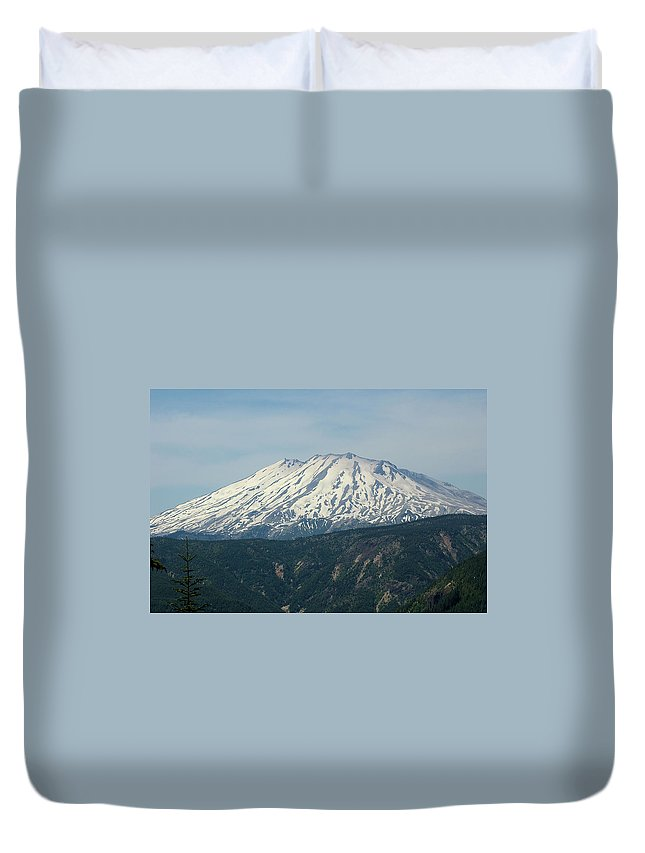 Mountains Duvet Cover featuring the photograph Mt St Helens by Jeff Swan