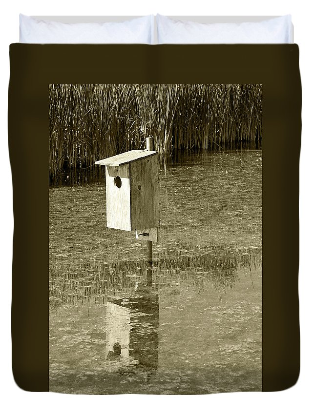 Box Duvet Cover featuring the photograph Nesting Box by Robert Hamm