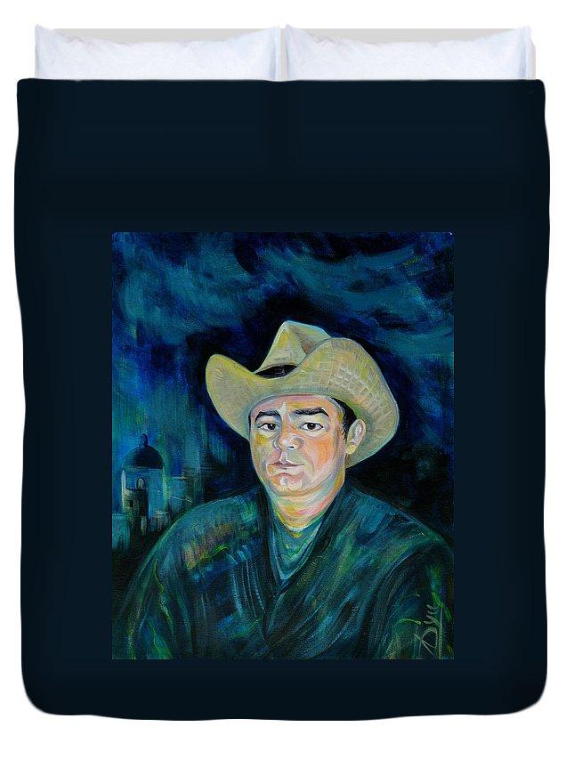 Not Eduardo Duvet Cover featuring the painting Not Eduardo by Anna Duyunova