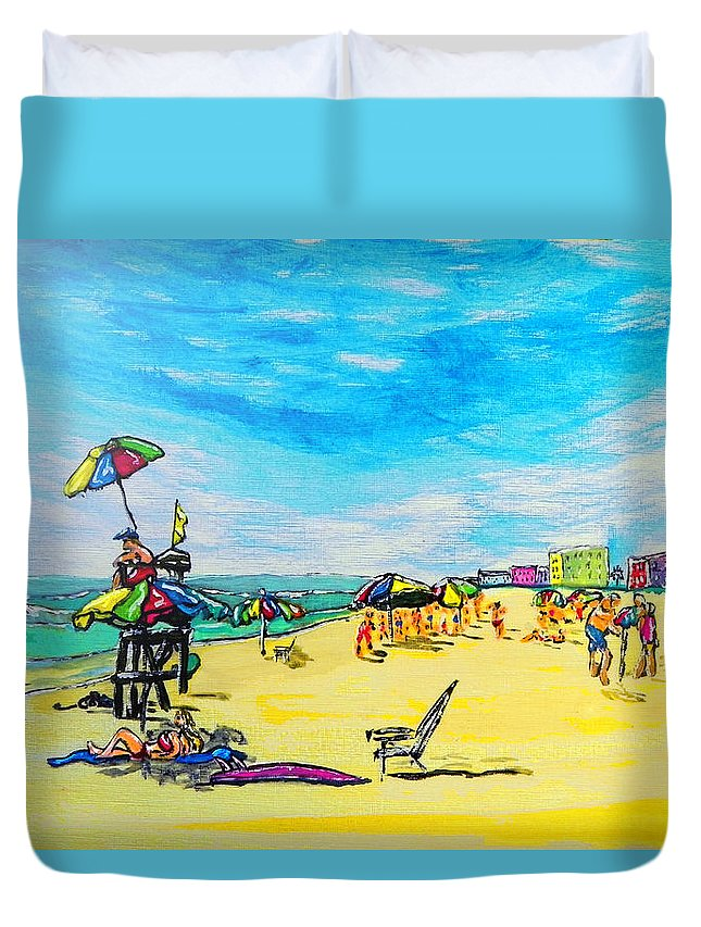 Wgilroy Duvet Cover featuring the painting ocean/ Beach by W Gilroy