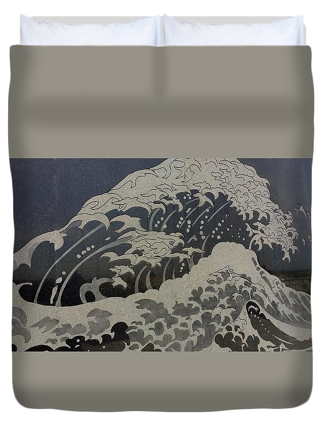 Sea Duvet Cover featuring the photograph Ocean Birds by Rob Hans