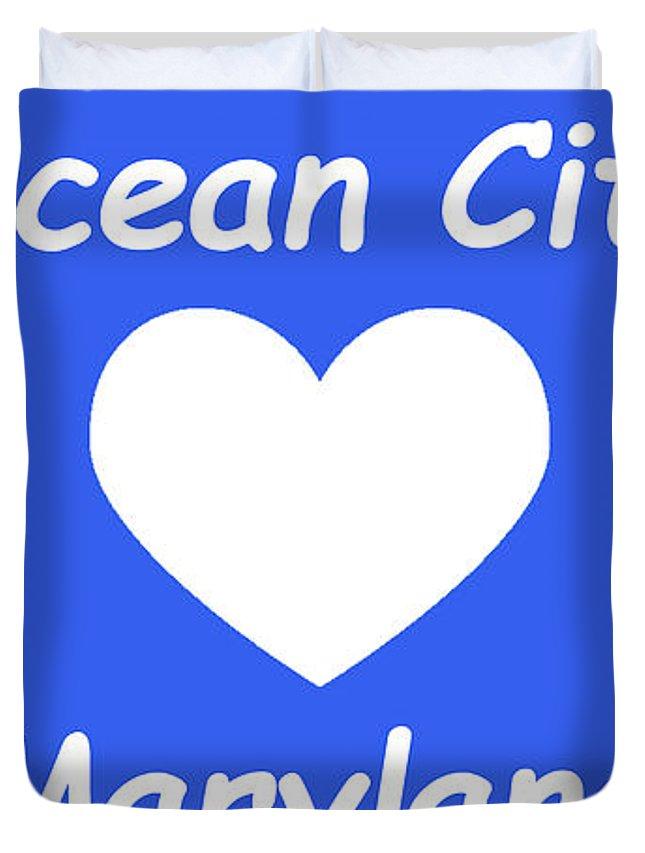 Ocean City Duvet Cover featuring the photograph Ocean City Maryland by Robert Banach