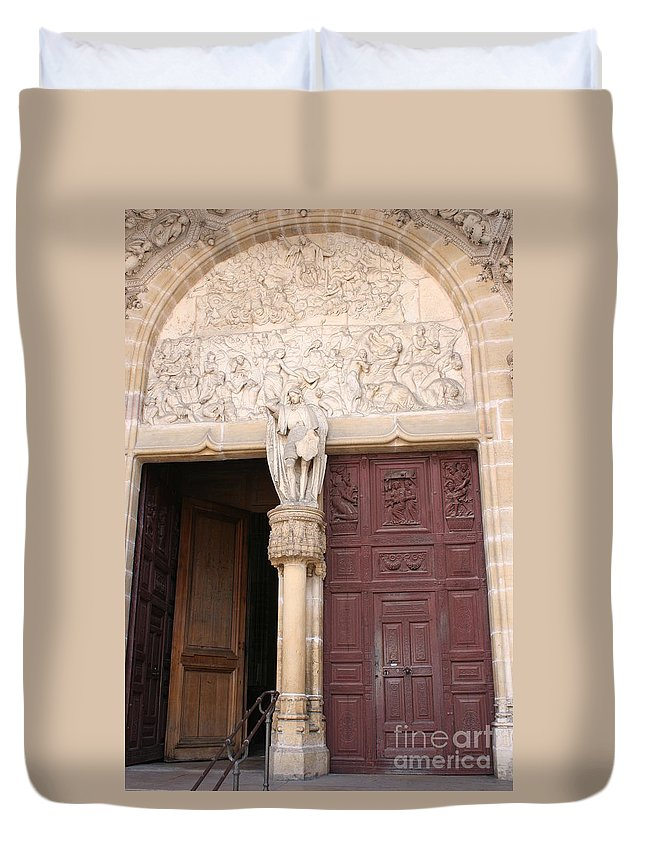 Door Duvet Cover featuring the photograph Old Church Door by Christiane Schulze Art And Photography