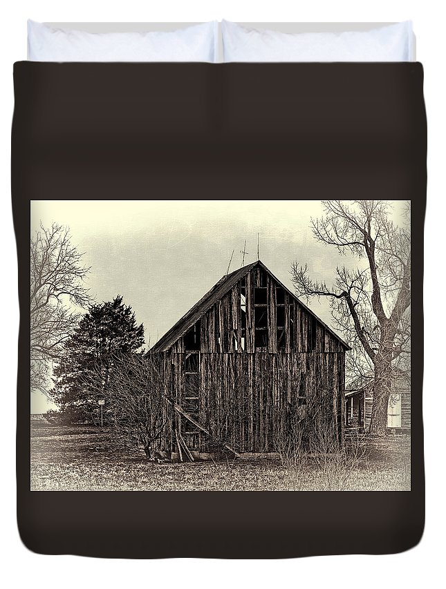 Old Duvet Cover featuring the photograph Old Days by Theresa Campbell