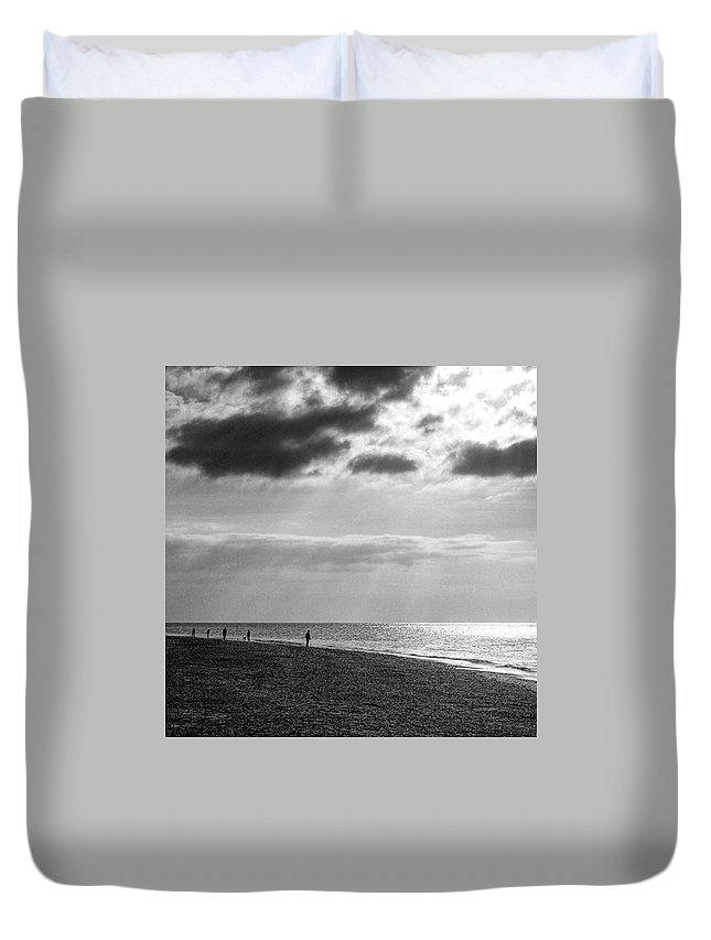 Landscapelovers Duvet Cover featuring the photograph Old Hunstanton Beach, Norfolk by John Edwards