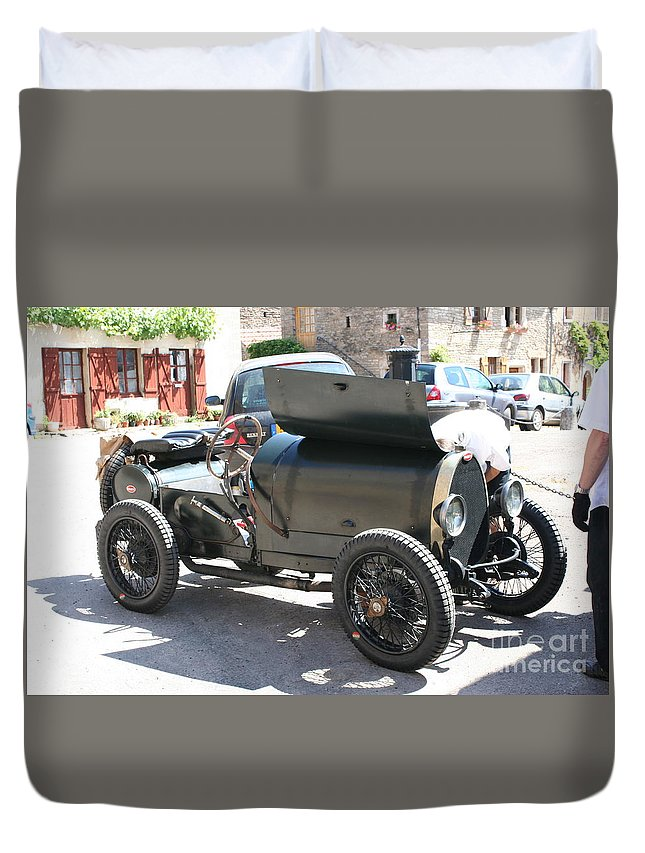 Oldtimer Duvet Cover featuring the photograph Oldtimer by Christiane Schulze Art And Photography