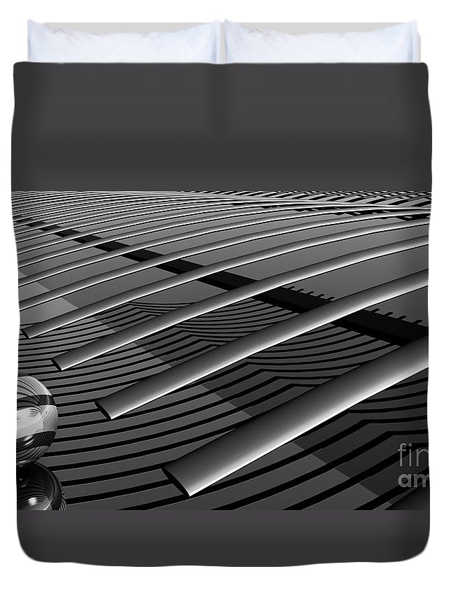 Abstract Duvet Cover featuring the digital art On The Verge by Richard Rizzo