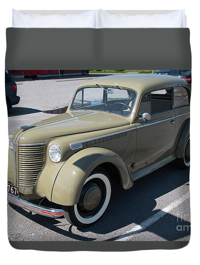 Opel Duvet Cover featuring the photograph Opel 1947 by Esko Lindell
