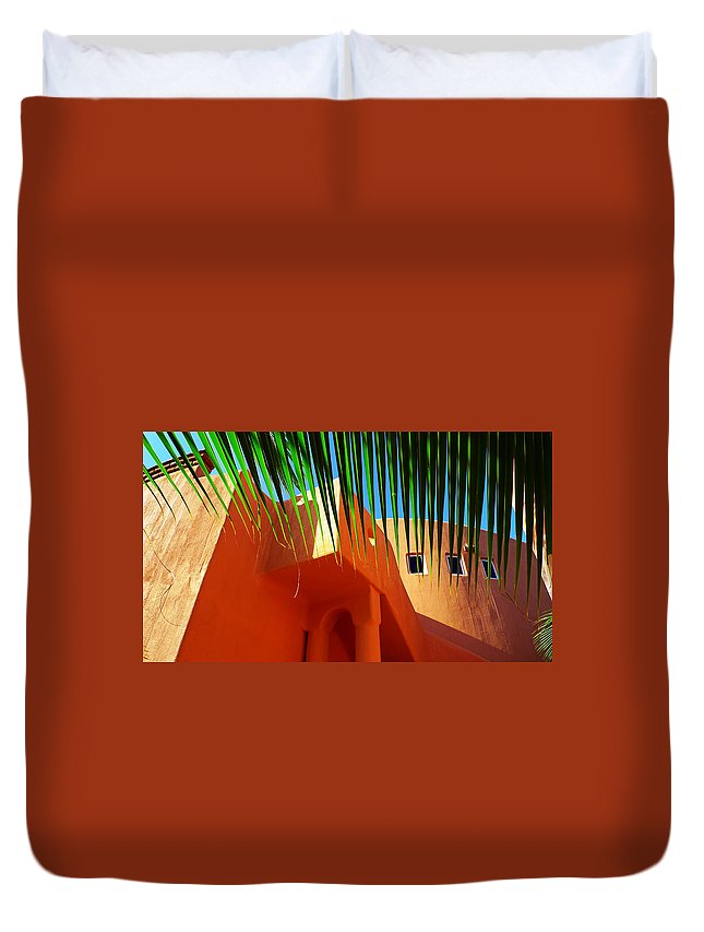 Orange Crush Duvet Cover featuring the photograph Orange Crush by Skip Hunt