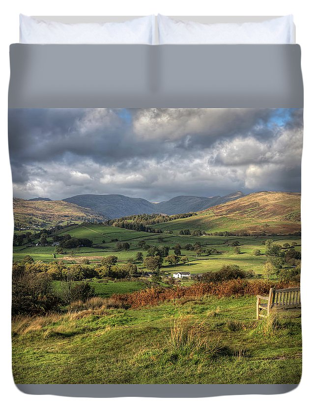 Orrest Head Duvet Cover featuring the photograph Orrest Head by Graham Moore