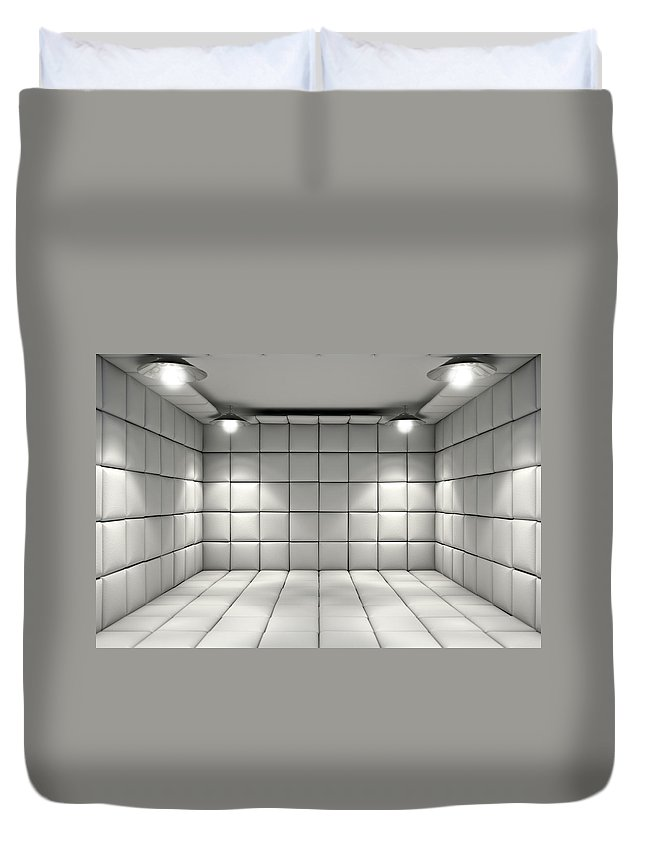 Room Duvet Cover featuring the digital art Padded Cell by Allan Swart