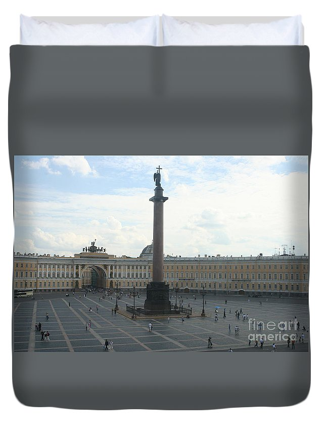 Palace Duvet Cover featuring the photograph Palace Place - St. Petersburg by Christiane Schulze Art And Photography