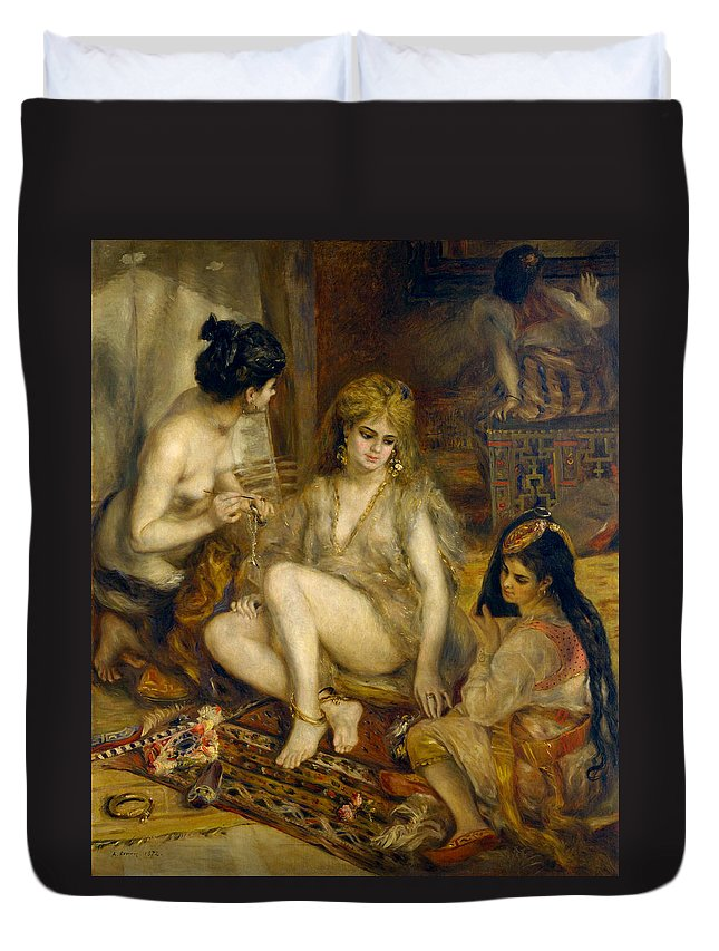 Europe Duvet Cover featuring the painting Parisiennes In Algerian Costume Or Harem by Pierre-Auguste Renoir