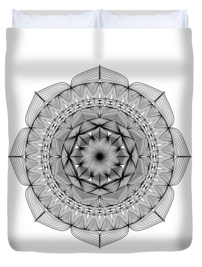 No Background Duvet Cover featuring the digital art Path Home by Simone Thomas