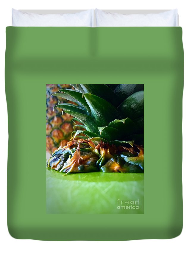 Fruit Duvet Cover featuring the photograph Pineapple by Bri Lou