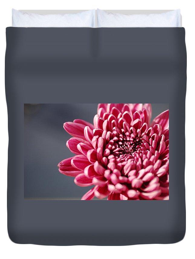 Flower Duvet Cover featuring the photograph Pink Flower by Jill Reger