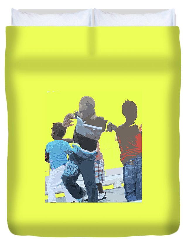Children Duvet Cover featuring the photograph Play by Ian MacDonald