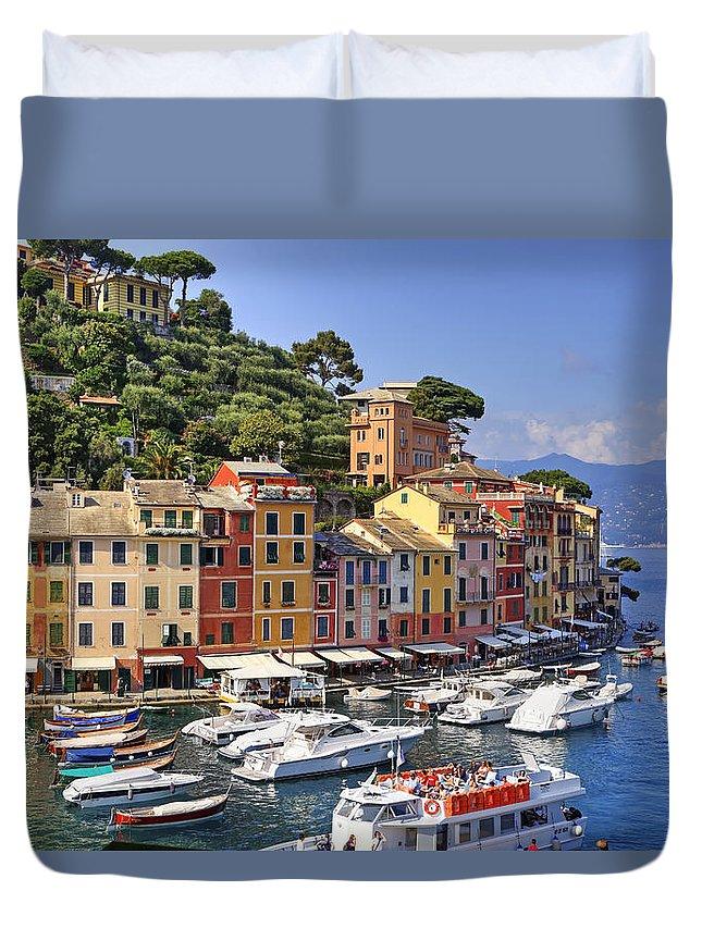 Portofino Duvet Cover featuring the photograph Portofino by Joana Kruse