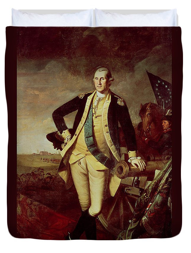 Portrait Duvet Cover featuring the painting Portrait Of George Washington 1 by Charles Willson Peale