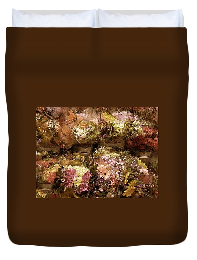 Flowers Duvet Cover featuring the photograph Potpourri by Jessica Jenney