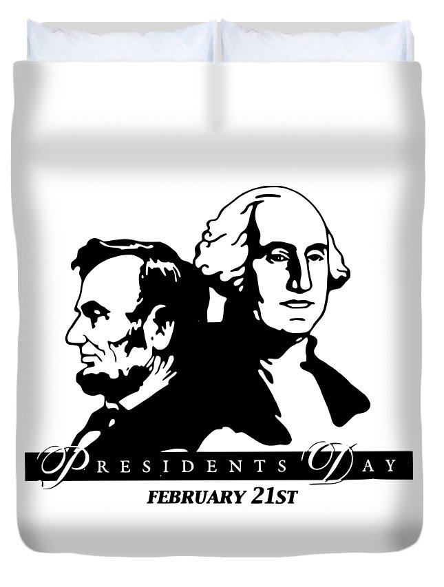 Witchcraft Duvet Cover featuring the digital art President's Day by Frederick Holiday