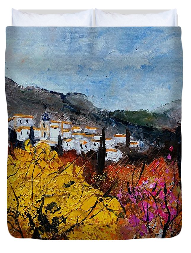 Provence Duvet Cover featuring the painting Provence by Pol Ledent