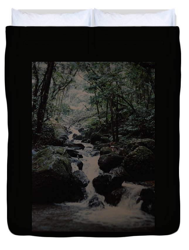 Water Duvet Cover featuring the photograph Puerto Rico Water by Rob Hans