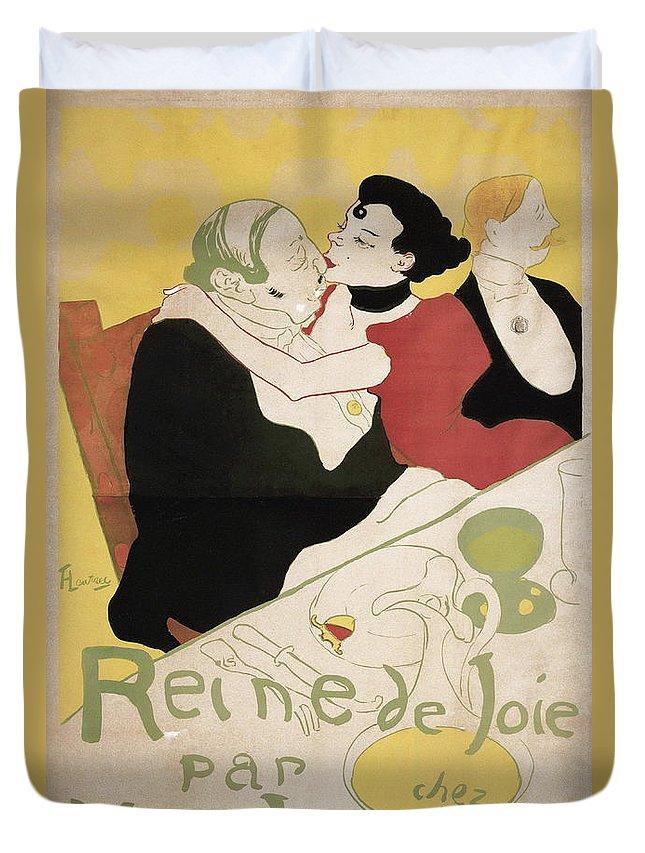 Portrait Duvet Cover featuring the painting Queen Of Joy by Henri De Toulouse Lautrec