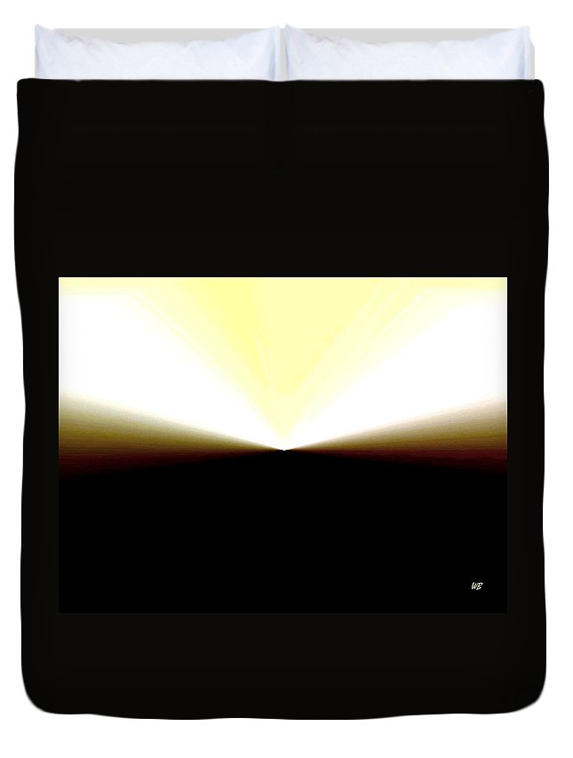 Abstract Duvet Cover featuring the digital art Radiation by Will Borden