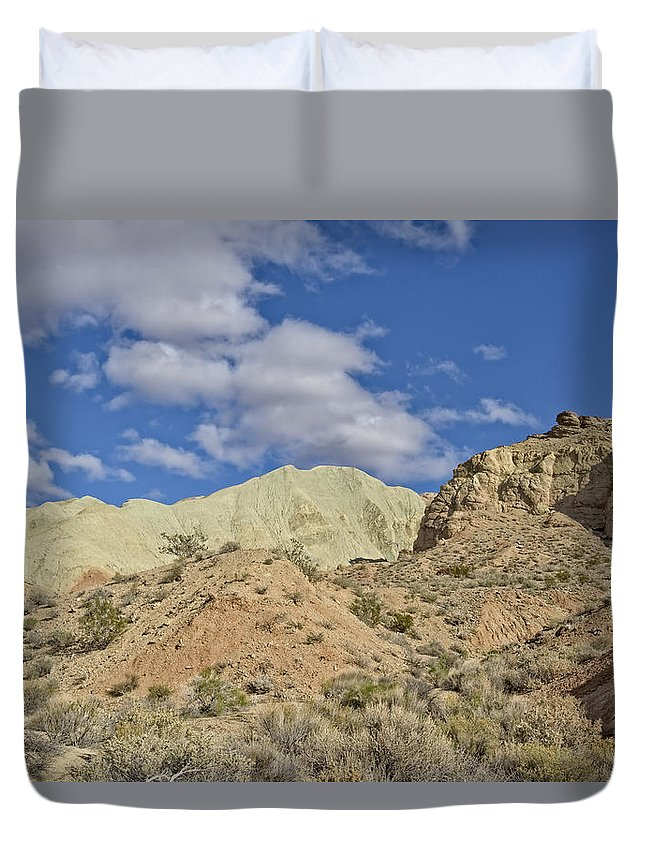 Barstow Duvet Cover featuring the photograph Rainbow Basin by Jim Thompson