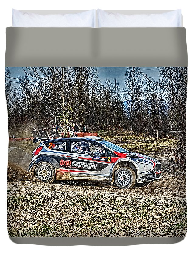 Ford Duvet Cover featuring the photograph Rally Car by Borko Turudic