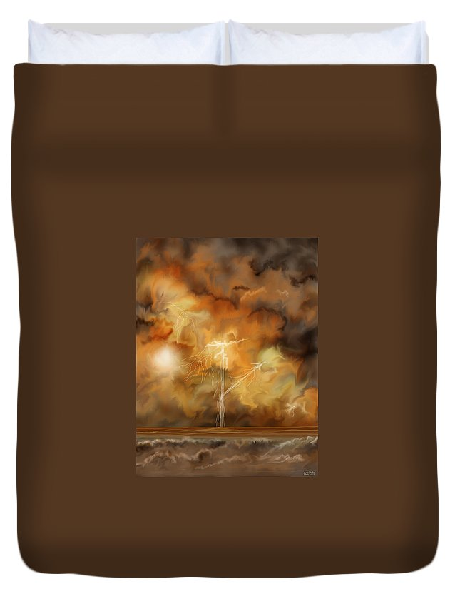 Anne Norskog Duvet Cover featuring the painting Raw Power by Anne Norskog