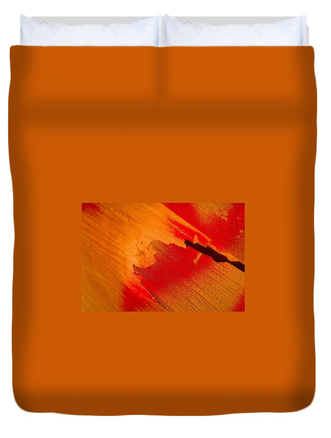 Red Duvet Cover featuring the photograph Red Alert by Michael Mogensen