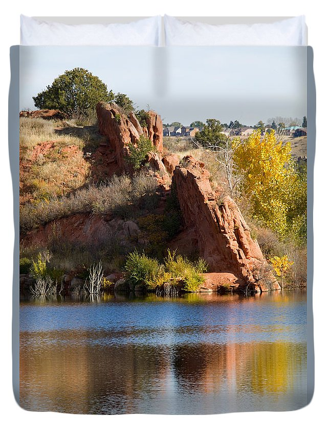 Garden Of The Gods Duvet Cover featuring the photograph Red Rock Canyon And Garden Of The Gods by Steve Krull