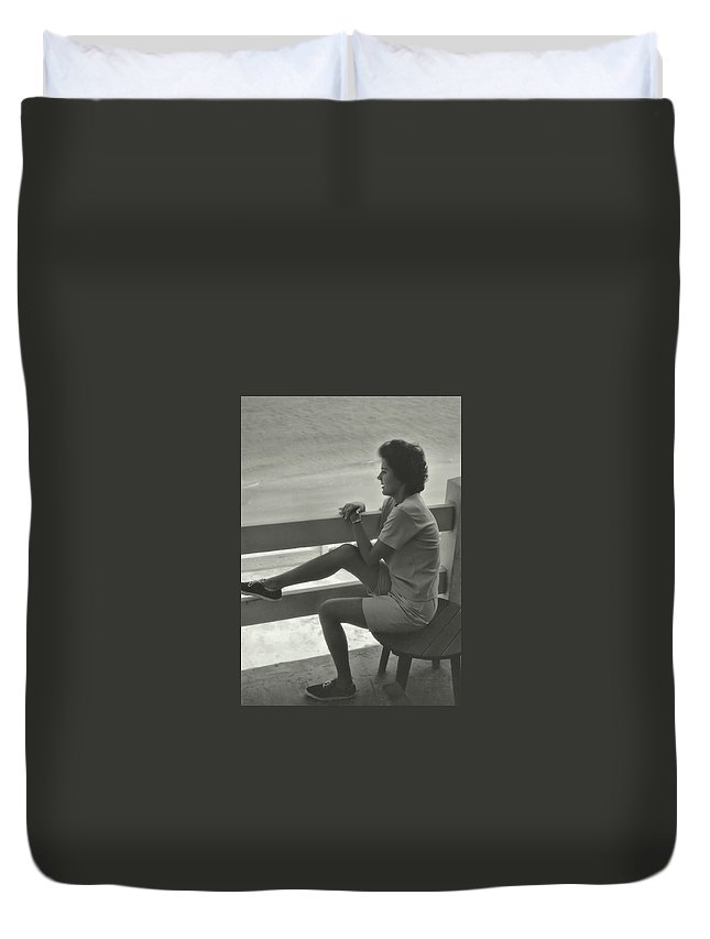 Retro Duvet Cover featuring the photograph Reflection by JAMART Photography