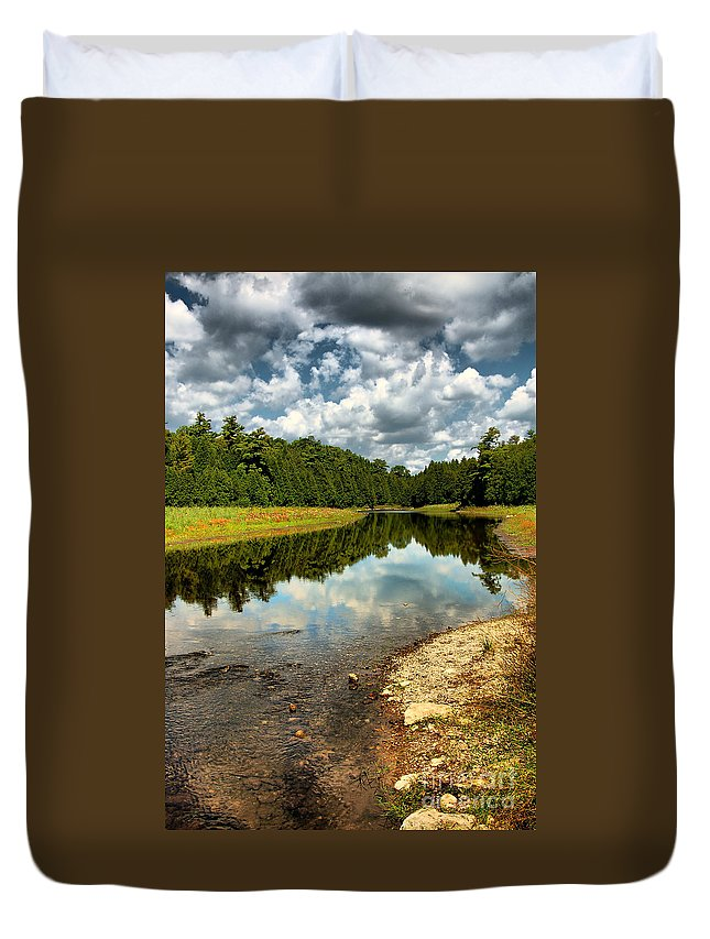Beauty Duvet Cover featuring the photograph Reflection Of Nature by Joe Ng