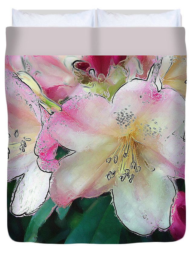 Ebsq Duvet Cover featuring the photograph Rhodi by Dee Flouton