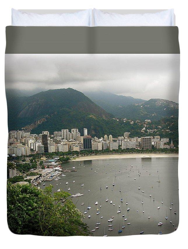 Rio De Janeiro Duvet Cover featuring the photograph Rio De Janeiro Vi by Brett Winn