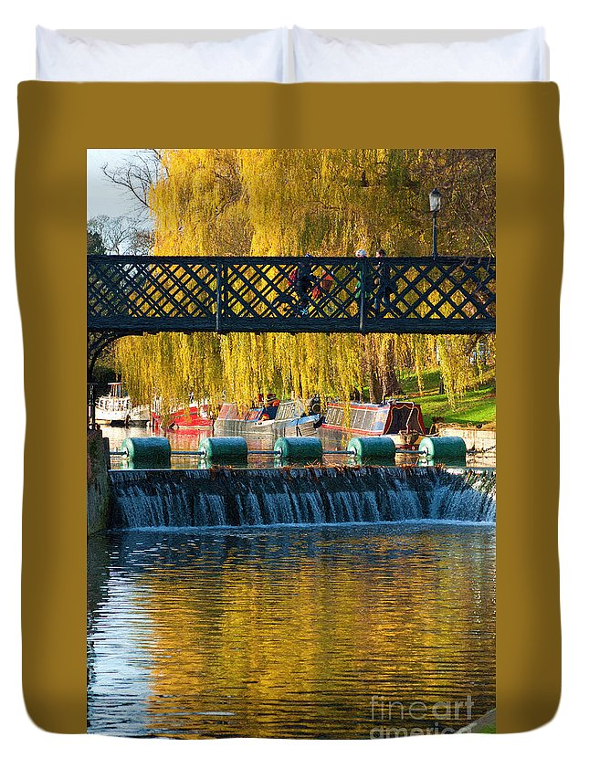 River Duvet Cover featuring the photograph River Cam by Andrew Michael