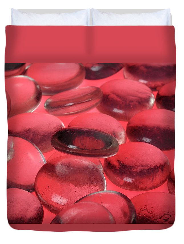 Composition Duvet Cover featuring the photograph Round Glass Shapes by Stefania Levi