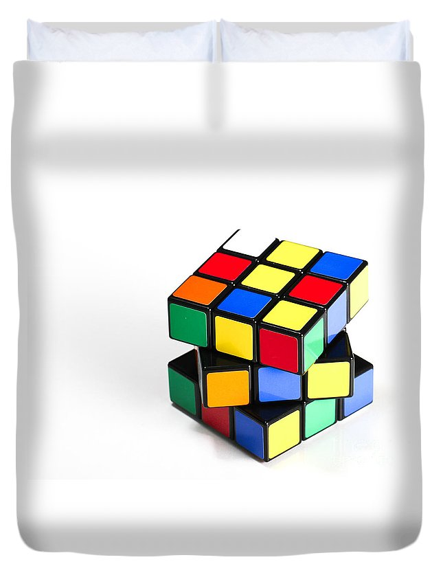 1974 Duvet Cover featuring the photograph Rubiks Cube by Photo Researchers