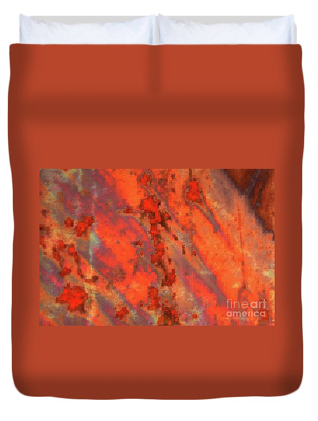 Digital Art Duvet Cover featuring the photograph Rust Abstract by Carol Groenen