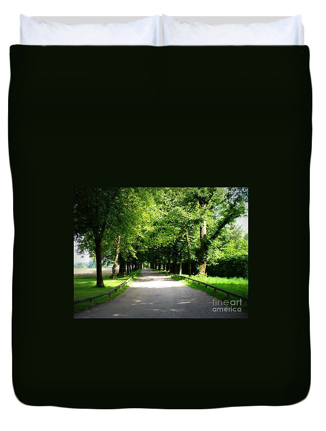 Lane Duvet Cover featuring the photograph Salzburg Lane by Carol Groenen