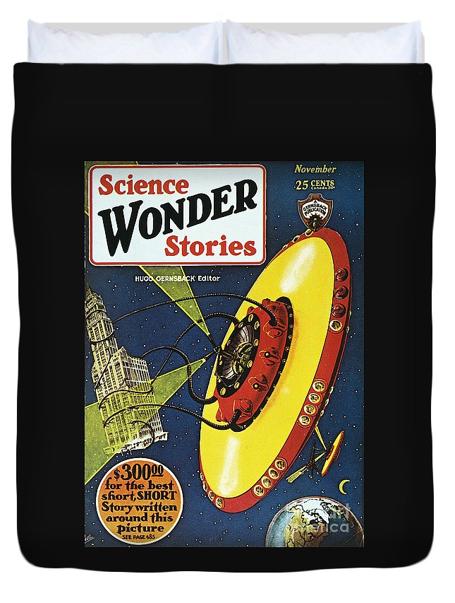 1929 Duvet Cover featuring the photograph Sci-fi Magazine Cover, 1929 by Granger